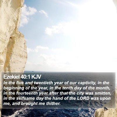 Ezekiel 40:1 KJV Bible Verse Image