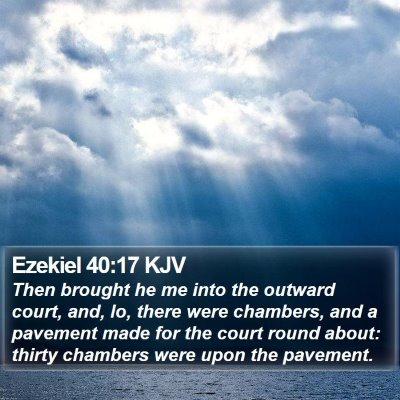 Ezekiel 40:17 KJV Bible Verse Image