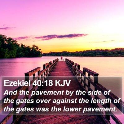 Ezekiel 40:18 KJV Bible Verse Image