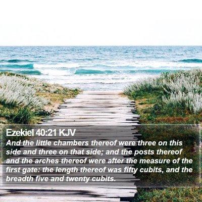 Ezekiel 40:21 KJV Bible Verse Image