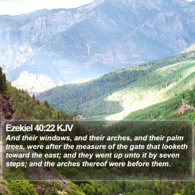 Ezekiel 40:22 KJV Bible Verse Image