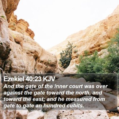 Ezekiel 40:23 KJV Bible Verse Image