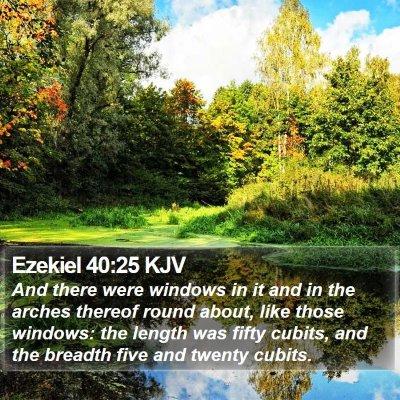 Ezekiel 40:25 KJV Bible Verse Image