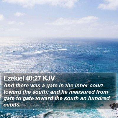 Ezekiel 40:27 KJV Bible Verse Image