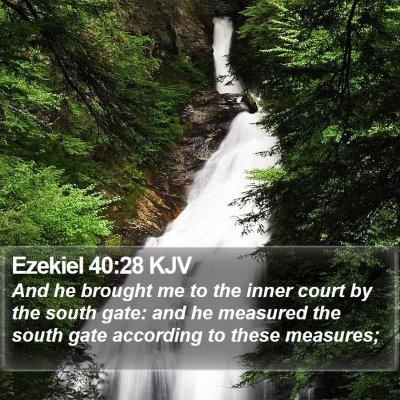 Ezekiel 40:28 KJV Bible Verse Image