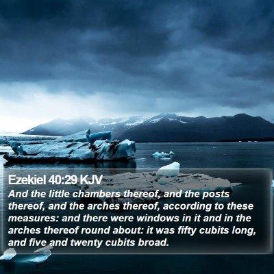 Ezekiel 40:29 KJV Bible Verse Image