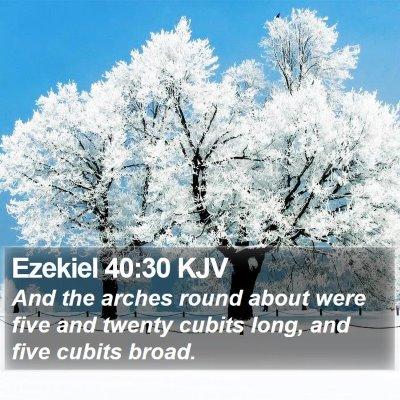 Ezekiel 40:30 KJV Bible Verse Image