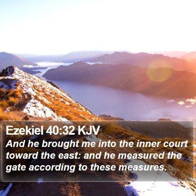 Ezekiel 40:32 KJV Bible Verse Image