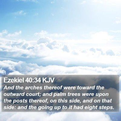 Ezekiel 40:34 KJV Bible Verse Image