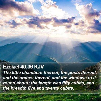 Ezekiel 40:36 KJV Bible Verse Image