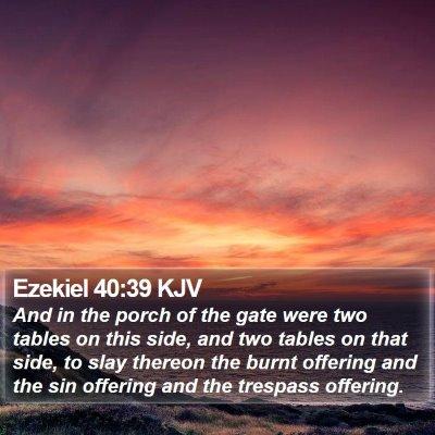 Ezekiel 40:39 KJV Bible Verse Image