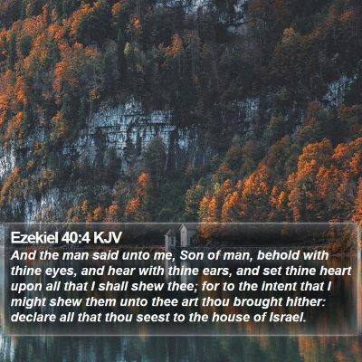 Ezekiel 40:4 KJV Bible Verse Image
