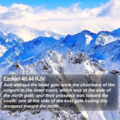 Ezekiel 40:44 KJV Bible Verse Image
