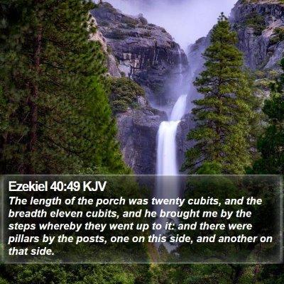 Ezekiel 40:49 KJV Bible Verse Image