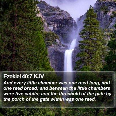 Ezekiel 40:7 KJV Bible Verse Image