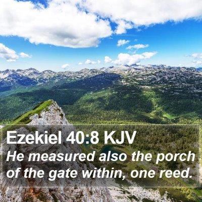Ezekiel 40:8 KJV Bible Verse Image