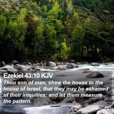 Ezekiel 43:10 KJV Bible Verse Image