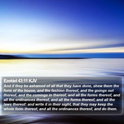 Ezekiel 43:11 KJV Bible Verse Image