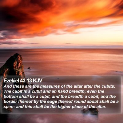 Ezekiel 43:13 KJV Bible Verse Image