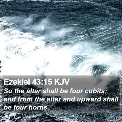 Ezekiel 43:15 KJV Bible Verse Image