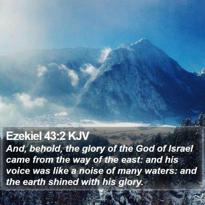 Ezekiel 43:2 KJV Bible Verse Image