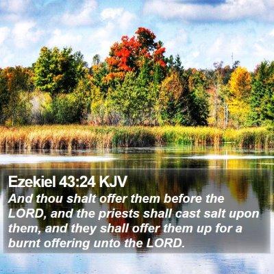 Ezekiel 43:24 KJV Bible Verse Image