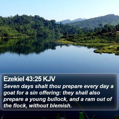Ezekiel 43:25 KJV Bible Verse Image