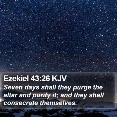 Ezekiel 43:26 KJV Bible Verse Image
