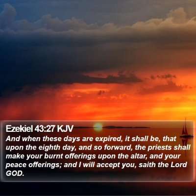 Ezekiel 43:27 KJV Bible Verse Image