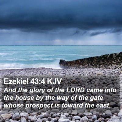 Ezekiel 43:4 KJV Bible Verse Image