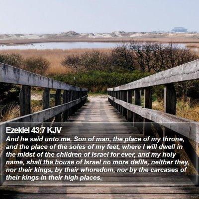 Ezekiel 43:7 KJV Bible Verse Image
