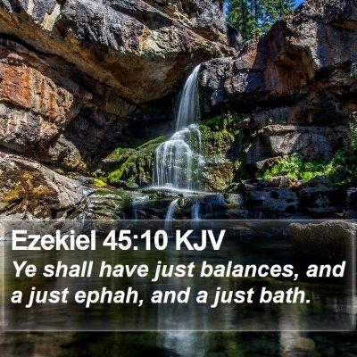 Ezekiel 45:10 KJV Bible Verse Image