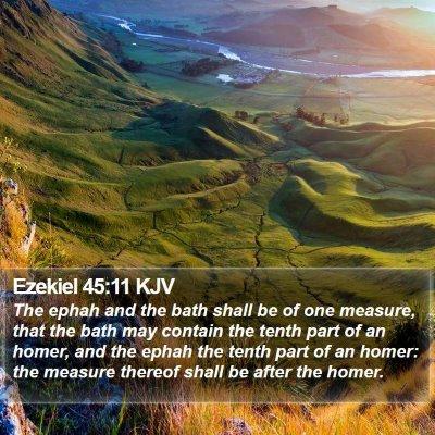 Ezekiel 45:11 KJV Bible Verse Image