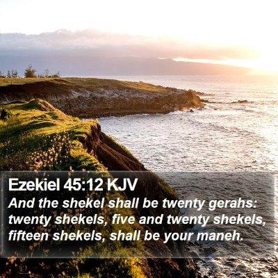 Ezekiel 45:12 KJV Bible Verse Image
