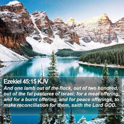 Ezekiel 45:15 KJV Bible Verse Image