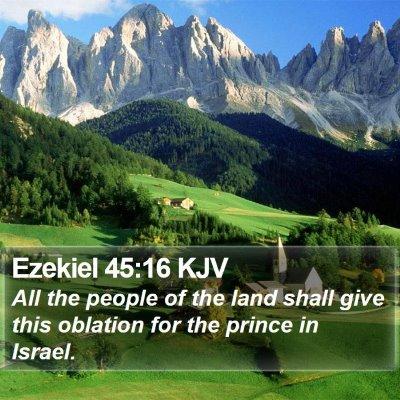 Ezekiel 45:16 KJV Bible Verse Image