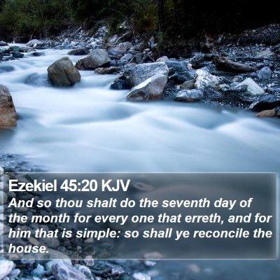 Ezekiel 45:20 KJV Bible Verse Image