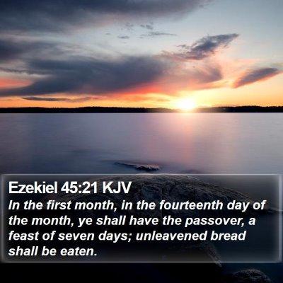 Ezekiel 45:21 KJV Bible Verse Image