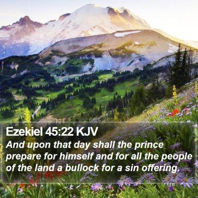 Ezekiel 45:22 KJV Bible Verse Image