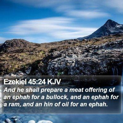 Ezekiel 45:24 KJV Bible Verse Image