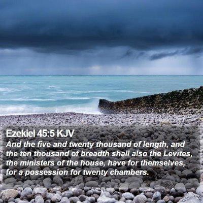 Ezekiel 45:5 KJV Bible Verse Image