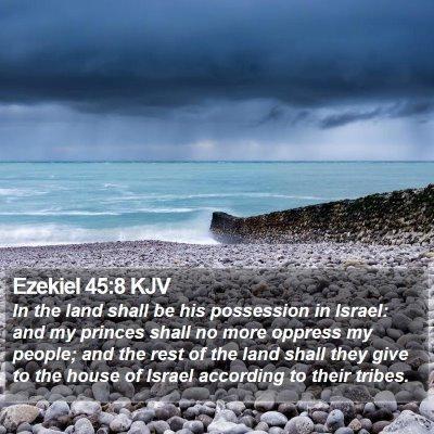 Ezekiel 45:8 KJV Bible Verse Image
