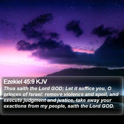 Ezekiel 45:9 KJV Bible Verse Image