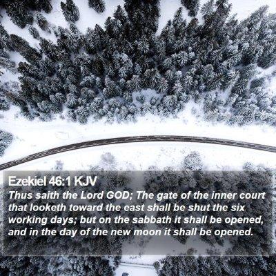 Ezekiel 46:1 KJV Bible Verse Image