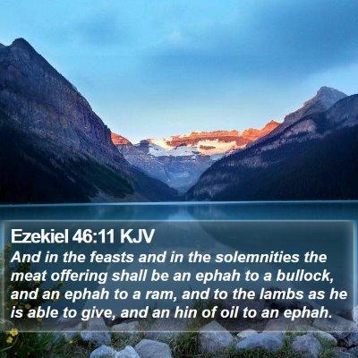 Ezekiel 46:11 KJV Bible Verse Image