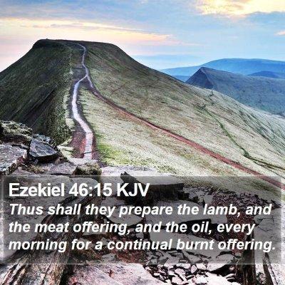 Ezekiel 46:15 KJV Bible Verse Image