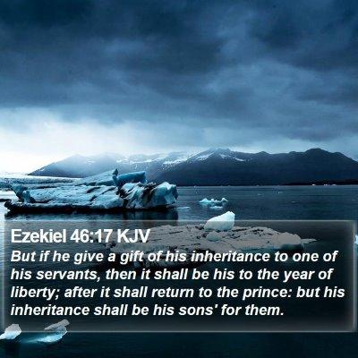 Ezekiel 46:17 KJV Bible Verse Image