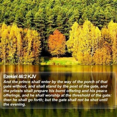 Ezekiel 46:2 KJV Bible Verse Image
