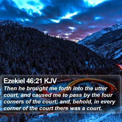 Ezekiel 46:21 KJV Bible Verse Image