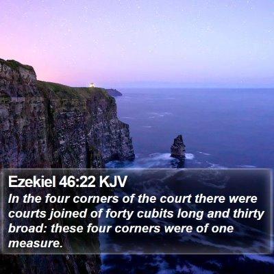 Ezekiel 46:22 KJV Bible Verse Image